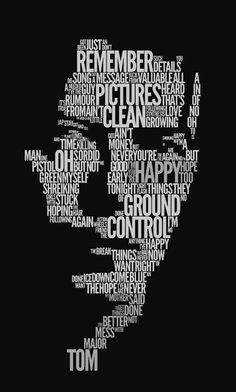 Word Art David Bowie / Typography + black + white / Daanizzo / on TTL Design Typography Portrait, Typography Art, Graphic Design Typography, Lettering, Text Portrait, Portrait Poses, Pencil Portrait, Create Logo, Do It Yourself Design