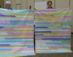 1600 Jellyroll quilt top.  Make it in an hour!  Gotta try this! There is a complete tutorial.