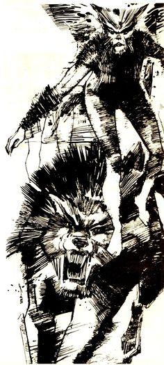 Wolfsbane by Bill Sienkiewicz c.1984