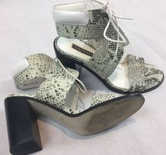 e668db58da1f0 Senso Valleri Size 41 Mock Snakeskin Look Designer Sandals Heels Shoes  Fashion