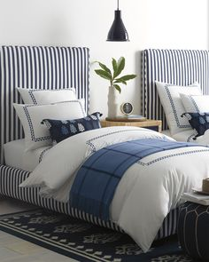 Twin Bed Sets With Comforter Product Coastal Master Bedroom, Coastal Bedrooms, Guest Bedrooms, White Bedroom, Bedroom Decor, Bedroom Neutral, Bedroom Lighting, Twin Bedroom Ideas, Luxury Kids Bedroom