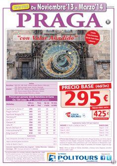 PRAGA, salidas del 3/01 al 31/03/14 desde Mad y Bcn (4d/3n) p.f 425€ valor añadido ultimo minuto - http://zocotours.com/praga-salidas-del-301-al-310314-desde-mad-y-bcn-4d3n-p-f-425e-valor-anadido-ultimo-minuto-2/