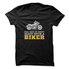 ((Top Tshirt Popular) Feel Safe At Night Sleep With A Biker Motorcycle Gift [Tshirt Sunfrog] Hoodies, Funny Tee Shirts