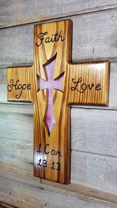 Your place to buy and sell all things handmade Wooden Cross Crafts, Wooden Crosses, Wall Crosses, Christmas Wood Crafts, Christmas Signs Wood, Woodworking Projects Diy, Wood Projects, Stain Glass Cross, Wood Craft Patterns
