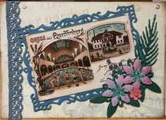 Schwimmhalle Quedlinburg. Made a new card from an old postcard (1904)