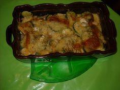 Gratin de poulet et courgettes au brie