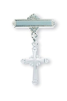 Fancy Cross Sterling Silver Baby Medals, Baby Pin, Great for Christening, Baptism or First Communion (Attach to Tie) HMH001 http://www.amazon.com/dp/B00T584UUO/ref=cm_sw_r_pi_dp_OSMnvb1SQQZCA