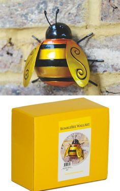 Fountasia Wall Art Medium Bumble Bee. sponsored link #bee #bumblebee #wallart #garden #giftsforher #giftsforhim