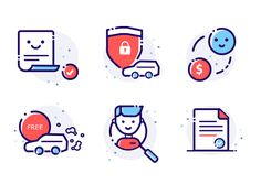 New Shot - at AM designed by Ker-an. Line Illustration, Graphic Design Illustration, Icon Illustrations, Portfolio Web, Motion Logo, Small Icons, Logos Retro, Home Icon, Social Icons