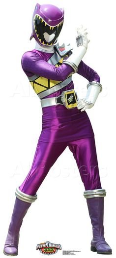 The Dino Charge Power Ranger the Purple ranger