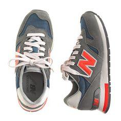 Add bright Orange shoe strings   Kids' New Balance® for crewcuts K1300 sneakers in dark military