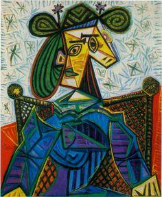 Femme assise dans un fauteuil oil on canvas