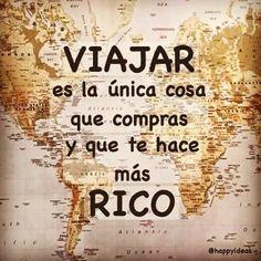 Viajar es la única cosa que #Instagram de #proZesa  Instagram frases instagram proZesa                                                                                                                                                                                 Más