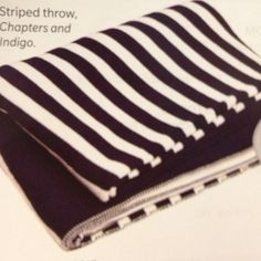 Striped throw-Chapters and Indigo