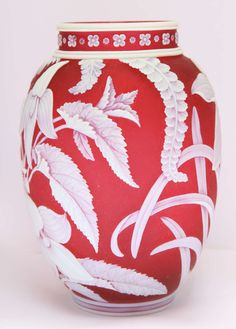 Antique Vases For Sale at Blue Pottery, Pottery Art, Art Nouveau, Sandblasted Glass, Vases For Sale, Art Deco Glass, Fenton Glass, Bottle Vase, Pottery Painting