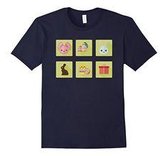 Cute Easter Day Flat Design T-Shirt Gifts Idea Kids Boys Girls