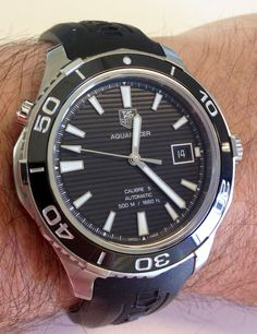 TAG Heuer Aquaracer 500m ceramic: http://www.calibre11.com/review-tag-heuer-aquaracer-500m-ceramic-bezel/