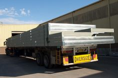 A truck loaded with prefabricated floor frames ready to leave our factory near Mittagong NSW. Floor Framing, Beams, Truck, Flooring, Steel, Design, Trucks, Wood Flooring
