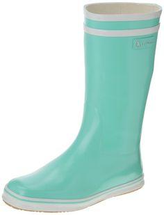 Aigle Malouine, Bottes de pluie femme - Bleu (Marine/Blanc), 35 EU: Amazon.fr: Chaussures et Sacs