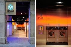 This is one of the coolest laundromats ever.  Hipster 'Splash' Laundromat by Frederic Perers