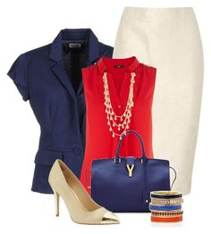 Work outfit by twinkle0088 on Polyvore featuring polyvore fashion style Oasis Philosophy di Alberta Ferretti Alexander McQueen Yves Saint Laurent Z Designs Anne Klein clothing