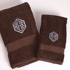 14 Ideas for Monogramming | Bath Towels | SouthernLiving.com