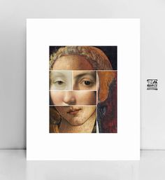 Famous paintings Collage Painting portraits by JAnoveltyDeSign Painting Portraits, Painting Collage, Paintings, Large Wall Art, Large Art, Lovers Art, Cool Things To Buy, Mona Lisa, Etsy Seller