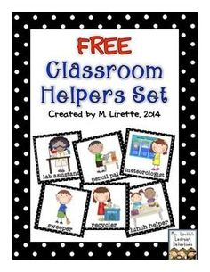 Here's a set of 35 job cards to help you organize your student helpers/responsibility chart in your classroom.