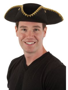 Halloween Adult Tricorn Permalux Hat with Gold Binding
