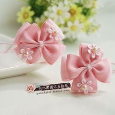 842 child baby accessories hair accessory pitching headband nude color bow female child tousheng hair rope-in Hair Accessories from Apparel & Accessories on A Ribbon Hair Bows, Diy Hair Bows, Diy Bow, Ribbon Art, Diy Ribbon, Ribbon Crafts, L'art Du Ruban, Band Kunst, Baby Hair Accessories