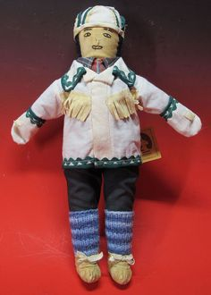 Vintage Inuit Eskimo Art Labrador Innu Tea Doll Theresa Andrew Sheshatshiu 2 yqz