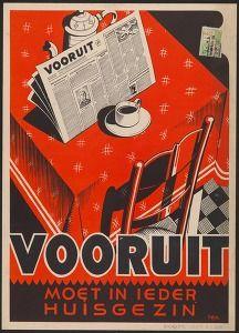 Vooruit moet in ieder huisgezin (1946, Commercial & advertising posters Belgium, Ghent) #Booktower