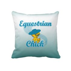 Equestrian Chick #3 Throw Pillow
