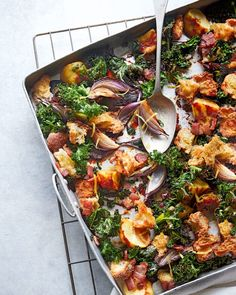 If you've never cooked with Marmite before, you're in for a treat. Add salty tang to this vegetable and bacon traybake for a little 'something extra'. Roasted Potato Recipes, Roast Recipes, Barbecue Recipes, Roasted Potatoes, Bank Holiday Recipes, Marmite Recipes, Tray Bake Recipes, Good Food, Yummy Food