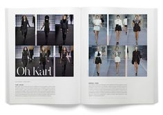 For fashion spreads with lots of images. Le Fourquet Magazine No.13 by La Tortilleria , via Behance