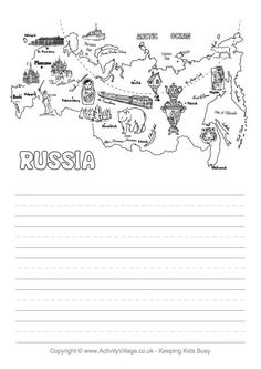 Russia story map--http://www.activityvillage.co.uk/russia-map-story-paper  I love the Russia story map idea! I think this could help students to find some of the key cultural and historical highlights of a city and apply them to what they know. Students on the website were also prompted to create a story allowing creativity and personal connection to the topic!