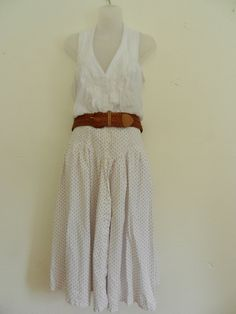 floral prairie skirt   Vintage Floral Prairie Skirt- Maxi Skirt- Womens Long White Skirt ...
