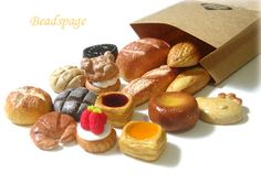 10 Assorted Miniature Dollhouse Bread, Doll Food, Party, Cake, Tart, Orea, Cookie, Pastry, Donut, gift, 3D Cabochon, Handmade, DIY, Decoden