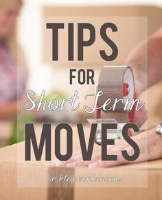 Moving requires a lot of preparation. It's especially difficult when you are only going for a short time. These Tips for Short-Term Moves will help you plan! #CORT #ad