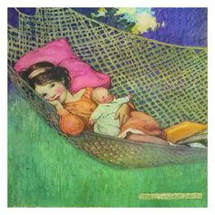 Jessie Willcox Smith's illustrations were frequently featured on Good Housekeeping's magazine covers around the turn of the 20th century. Our stretched canvas pictures are will brighten any nursery, p Art And Illustration, American Illustration, Vintage Illustrations, Vintage Pictures, Vintage Images, Vintage Art, Vintage Ephemera, Jessie Willcox Smith, Anime Comics