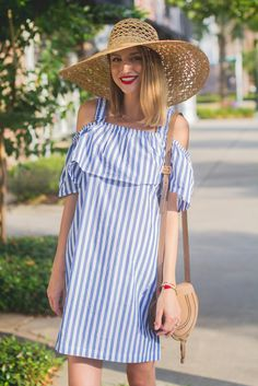 Stripe Mini Dress : WHIT Two