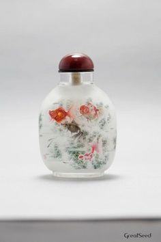 vintage and handmade insidepainted snuff bottle by GreatSeed, $500.00