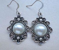 Starlight Bride Earrings Bridal Pearl by StarlightWeddings on Etsy