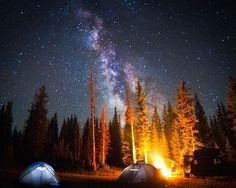 There's nothing like camping under an open sky...