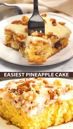 Easiest Pineapple Cake is a one bowl wonder made without oil or butter in the homemade cake batter.
