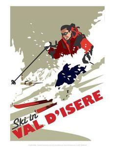 Val D'Isere - Dave Thompson Contemporary Travel Print - Affischer av Dave Thompson på AllPosters.se