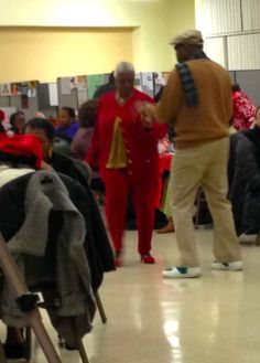 Seniors dancing at the Rosa Parks Western Addition Christmas Party!