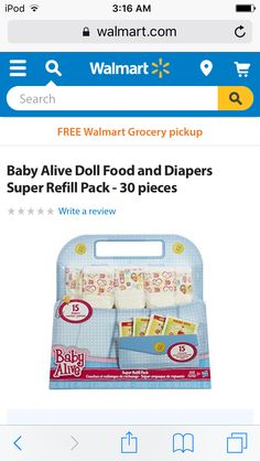 Baby alive diapers Baby Shower Presents, Baby Shower Gifts, Baby Doll Diaper Bag, Walmart Grocery Pickup, Girls Room Design, Baby Alive Dolls, 5 Babies, Doll Food, Baby Coming