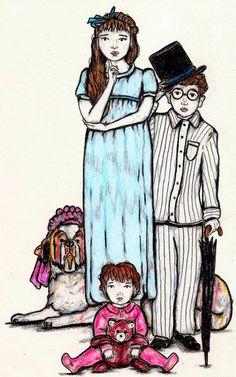 THE NURSERY  Wendy John Michael Nana  by LittleEnithandSons