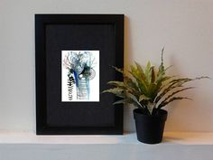 One of-a-kind art. Original aceo, watercolor painting, original abstract art, outsider art, unusual gift, aceo original, original atc, illustration, weird art, blue painting, small format art  BLUE & PURPLE ABSTRACT  Those miniature drawings are one off a kind artworks and can be perfect